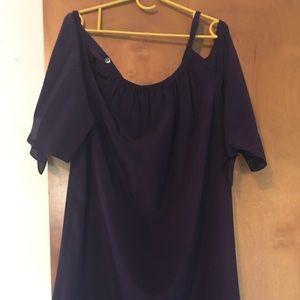 Madewell cold shoulder silk dress
